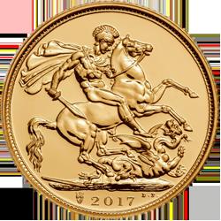 sterlina 2017 oro filatelia riva reno